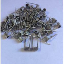 Fused clapton handcraftet coil Ni 0.4/Ni 0.1