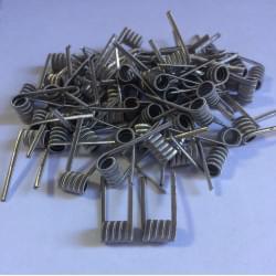 Tripple fused clapton Ni 0.4/Ni 0.1 handcraftet coil