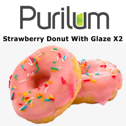 Strawberry Donut With Glaze X2 Purilum